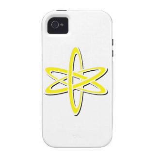 Amarillo atómico Case-Mate iPhone 4 carcasa