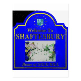 Amarillo azul de Shaftesbury Tarjetas Postales