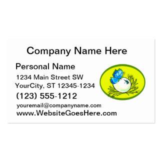 amarillo azul design.png oval de la mariposa del h tarjeta de visita