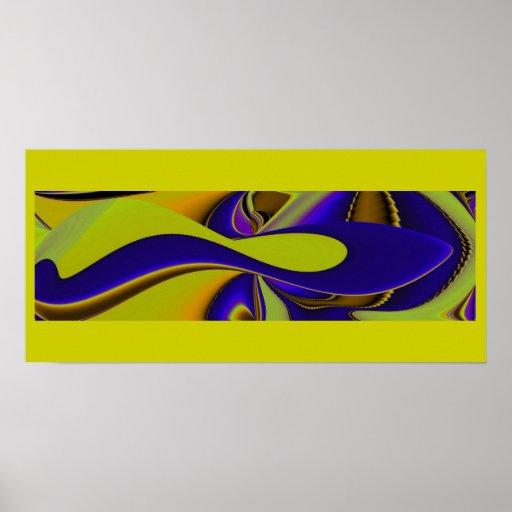 amarillo azul lila abstract impresiones
