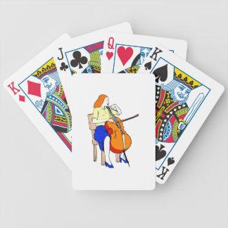 Amarillo bajo femenino shirt.png de la orquesta baraja cartas de poker