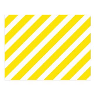 Amarillo básico de la raya 1 postales