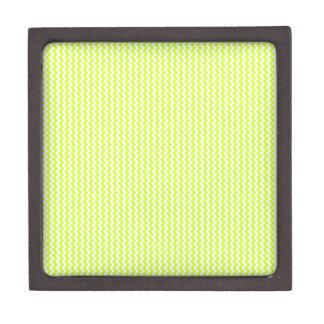 Amarillo blanco y fluorescente del zigzag - cajas de joyas de calidad