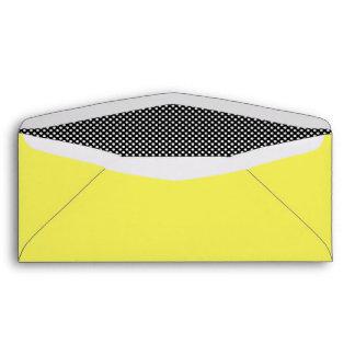 Amarillo blanco y negro de Polkadots