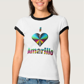 Amarillo -- Blue Green & Burgundy T-Shirt