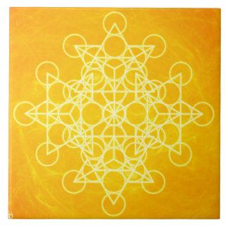 Amarillo brillante de la geometría sagrada de la m azulejos ceramicos
