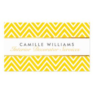 Amarillo brillante del oro del galón elegante tarjetas de visita