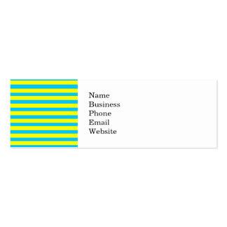 Amarillo brillante del verano de la diversión y tarjetas de visita mini