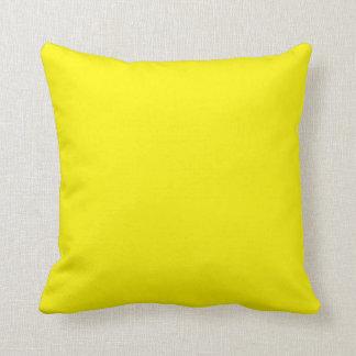 Amarillo brillante soleado almohada