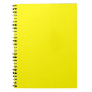 Amarillo brillante soleado libro de apuntes con espiral