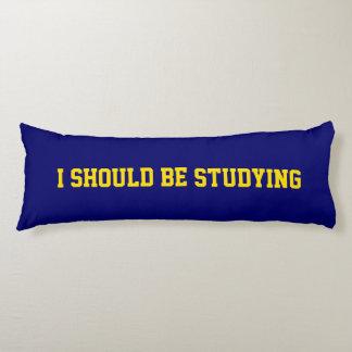 Amarillo brillante y azul que debo estudiar cojin cama