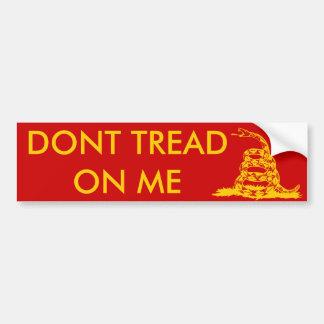 Amarillo Bumper2 de Gadsden_flag el 11in en rojo Etiqueta De Parachoque