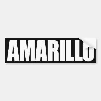 Amarillo Bumper Sticker