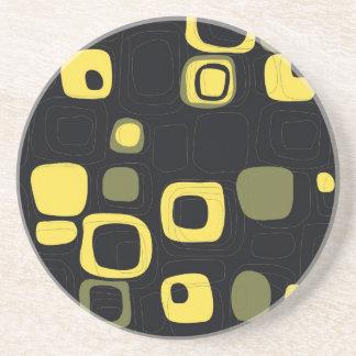 Amarillo, cal, práctico de costa retro negro del a posavasos cerveza