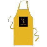 Amarillo caliente del cocinero alegre delantal
