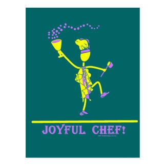 Amarillo caliente del cocinero alegre tarjeta postal