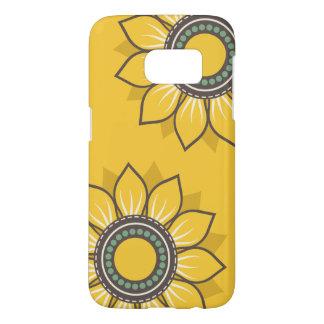 Amarillo caprichoso de las flores fundas samsung galaxy s7