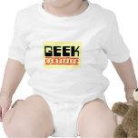 Amarillo certificado friki trajes de bebé
