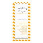 amarillo Chevron gris gris del programa del boda 2 Tarjetas Publicitarias A Todo Color