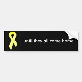 amarillo-cinta… hasta ellos todos vuelven a casa etiqueta de parachoque