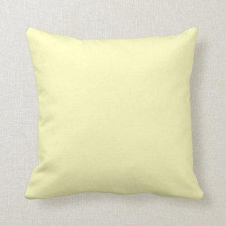 Amarillo claro almohada