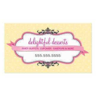Amarillo claro en colores pastel rosado elegante l plantilla de tarjeta de visita