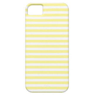 Amarillo claro y blanco raya la caja del iPhone iPhone 5 Fundas
