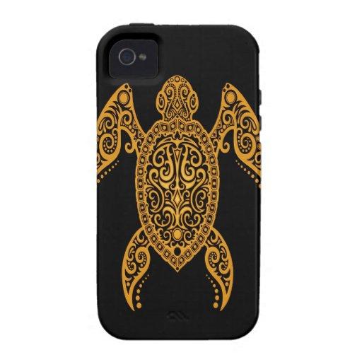 Amarillo complejo y tortuga del Mar Negro iPhone 4/4S Funda