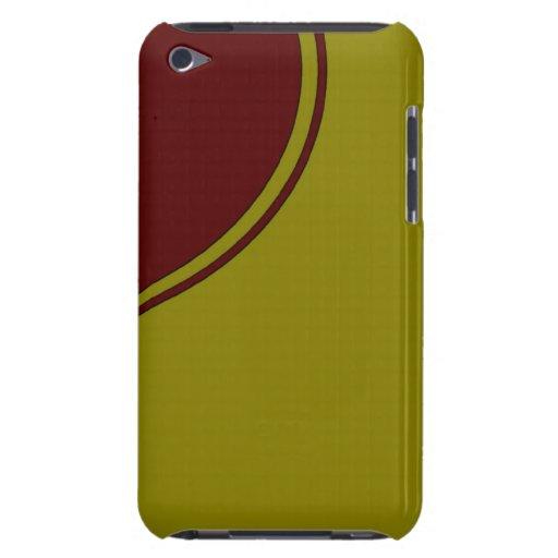 Amarillo con el círculo rojo oscuro Case-Mate iPod touch protectores