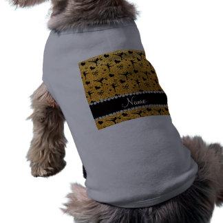 Amarillo conocido de encargo patinaje artístico el playera sin mangas para perro