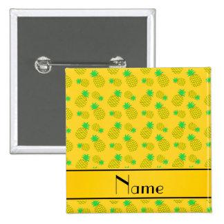 Amarillo conocido personalizado en las piñas pin cuadrada 5 cm