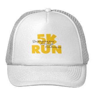 amarillo corrido 5K Gorros Bordados