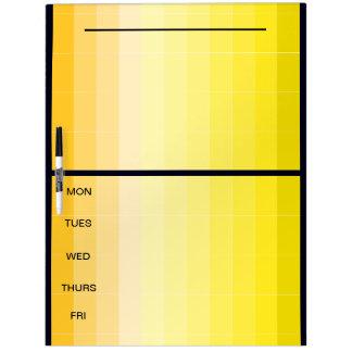 Amarillo CricketDiane de la semana de los días del Tableros Blancos