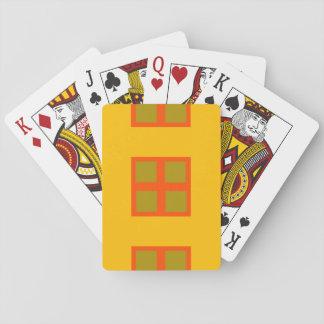 Amarillo, cuadrados anaranjados barajas de cartas
