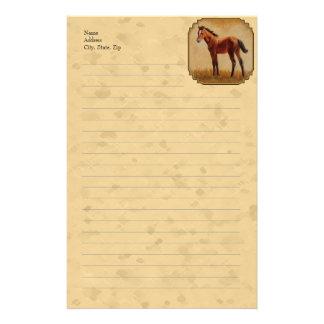 Amarillo cuarto lindo del potro del caballo  papeleria