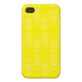 Amarillo de Avante Garde iPhone 4 Carcasa