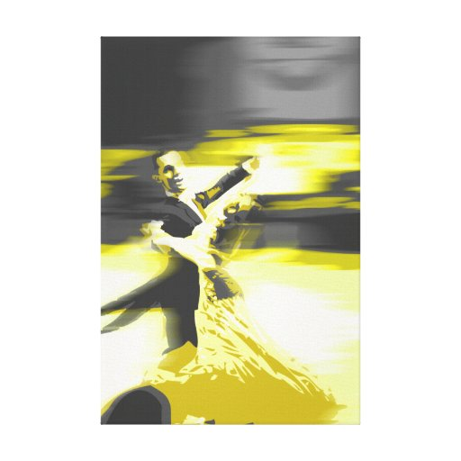 amarillo de baile lona estirada galerias