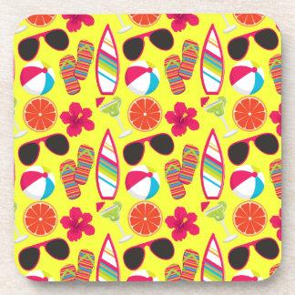 Amarillo de BeachBall de las gafas de sol de los f Posavaso