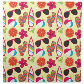 Amarillo de BeachBall de las gafas de sol de los f Servilleta De Papel