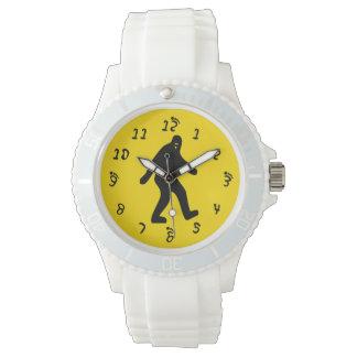 Amarillo de Bigfoot Relojes De Pulsera