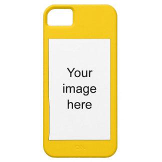 Amarillo de encargo de plantilla en blanco funda para iPhone 5 barely there