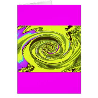 amarillo de Javier de la onda de agua Tarjeta De Felicitación