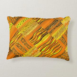 Amarillo de Kente Cojín Decorativo
