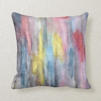 Amarillo de la almohada del arco iris del ébano