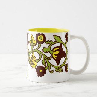 Amarillo de la cocina de la abuela taza de dos tonos