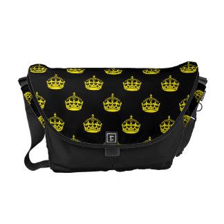 Amarillo de la corona bolsa de mensajería