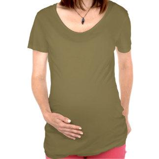 Amarillo de la entrega especial camiseta premamá