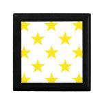 Amarillo de la estrella 1 caja de recuerdo