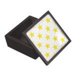 Amarillo de la estrella 1 cajas de recuerdo de calidad