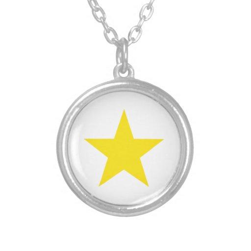 Amarillo de la estrella 1 collares